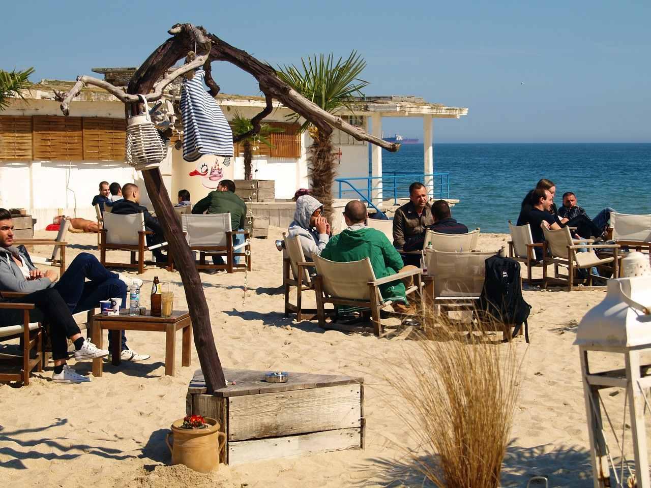 Bulgaria beach restaurant