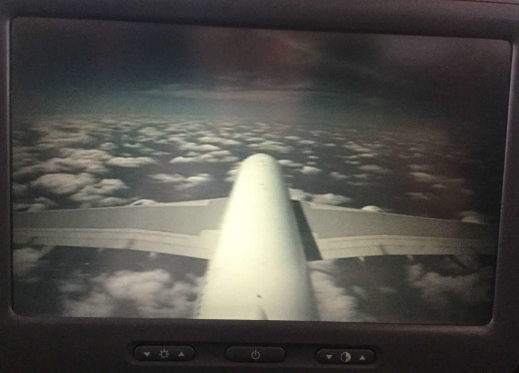 qantas airways seat with view
