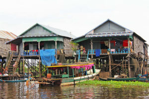 Cambodia River Houses