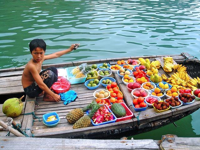 Hanoi Vietnam fruit sellers