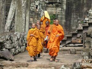 cambodia-Angkor Wat Monks