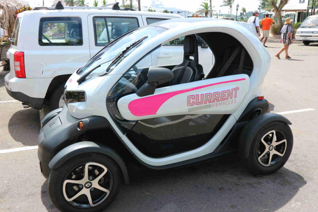 2 seater smart car Twizy Bermuda rental