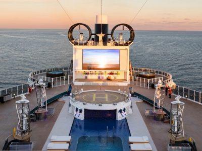 MSC Sea View cruise Atrium pool